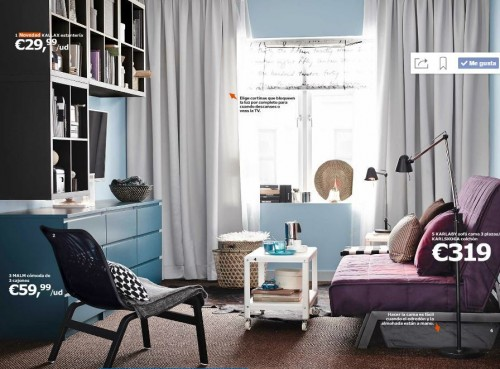 6 ideas para decorar salones peque os de ikea - Decoracion ikea salon ...