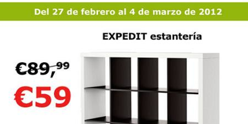 Oferta estanter a expedit por 60 euros - Medidas estanteria expedit ...
