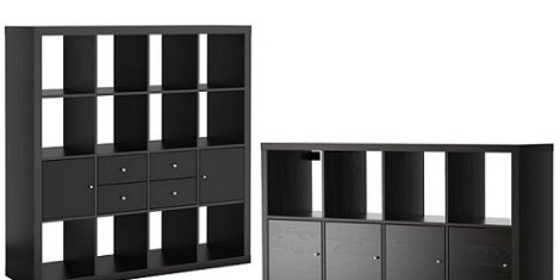 Librer a expedit en rojo for Ikea puertas para estanterias