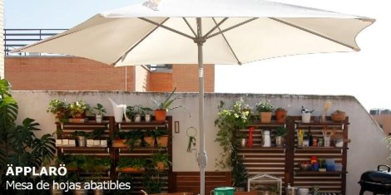 Sombrillas toldos y cenadores baratos de ikea verano 2014 for Ikea jardin 2015