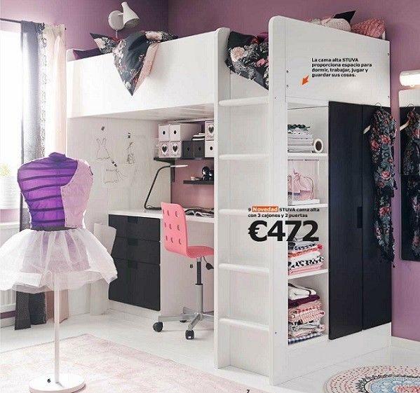 Ikea Poang Chair Oak Veneer ~ Dormitorios juveniles de IKEA catálogo 2015