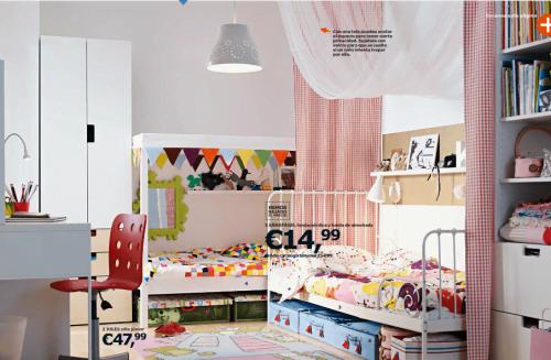 Ikea ni os novedades del cat logo 2015 en dormitorios for Habitaciones infantiles dobles ikea