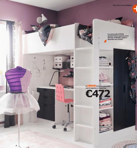 Ikea ni os novedades del cat logo 2015 en dormitorios for Camas en l ikea