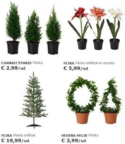 Los nuevos adornos navide os 2014 2015 de ikea - Plantas artificiales ikea ...