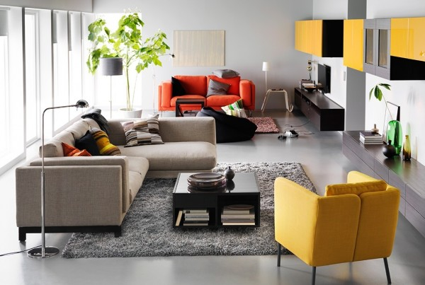 salón-ikea-sofá-grande