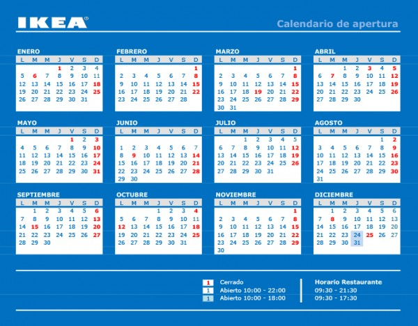horario ikea zaragoza semana santa