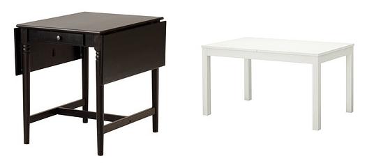 10 mesas de cocina Ikea baratas: extensibles, redondas...