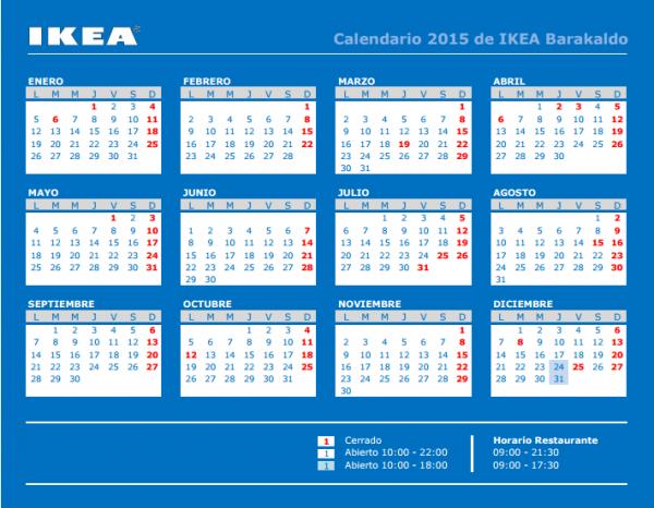 Calendario ikea barakaldo 2015 tel fono horario c mo llegar - Ikea como llegar ...