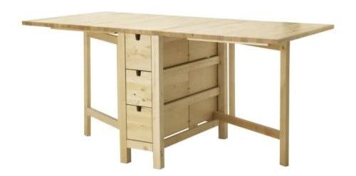 5 modelos de mesa plegable Ikea para tu cocina o comedor : mesa plegable ikea madera e1433790803852 from www.latiendasueca.com size 500 x 248 jpeg 13kB