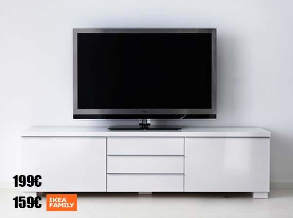 Ofertas para clientes con la tarjeta ikea family - Mueble tv blanco ikea ...