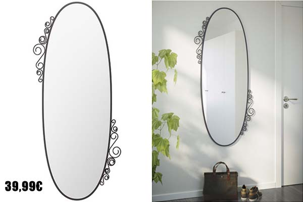 Ikea y sus espejos con estilo for Espejos grandes de pared ikea