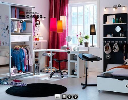 Decoracion mueble sofa adornos juveniles para habitacion - Habitaciones pequenas ikea ...