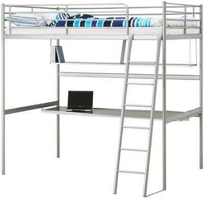 Ahorra espacio en tu habitaci n con una cama alta de ikea for Estructura de cama alta ikea