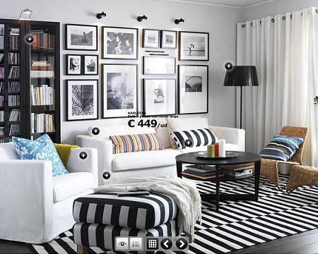 Casas cocinas mueble decorar espejos - Salones pequenos ikea ...